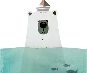 bear, illustration, and drawing image