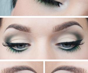 eye, eyes, and maquiagem image