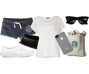morning, starbucks, and white shirt image