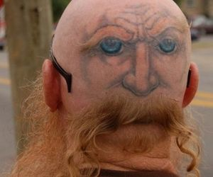 tattoo, funny, and face image