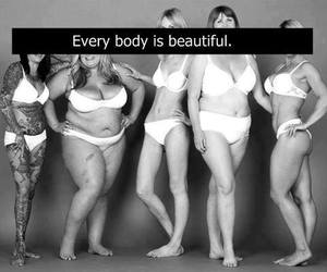 beautiful, black and white, and body image