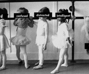 ballet, black and white, and confused image