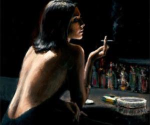 art, bar, and woman image