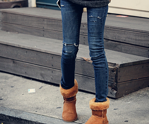 fashion, jeans, and uggs image