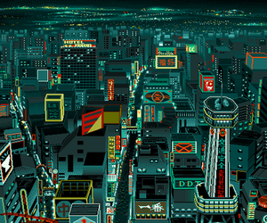 pixel and city image