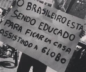 black and white and brasil image