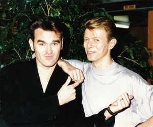 david bowie, morrissey, and bowie image