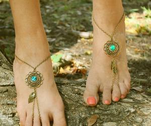 feet, fashion, and bohemian image