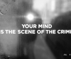 crime, mind, and black and white image