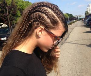 hair, braid, and sofia richie image
