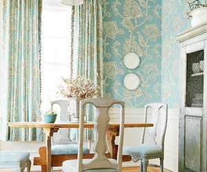 blue, blue and white, and cottage image