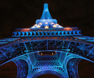 paris, blue, and eiffel tower image