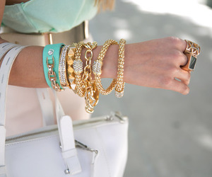 fashion, gold, and bracelet image