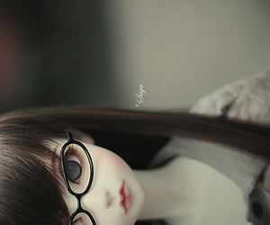 bjd, doll, and glasses image