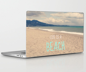 beach, laptop, and macbook image