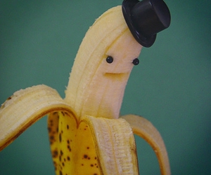 banana, fruit, and funny image