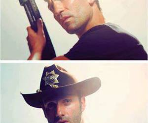 rick, shane, and the walking dead image