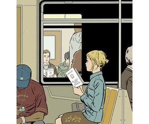 <3, adrian tomine, and art image