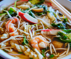asia, shrimp, and food image