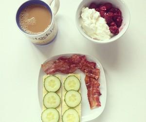 bacon, coffee, and food image