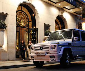 car, mercedes, and luxury image