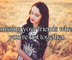 friends, missing, and just girly things image