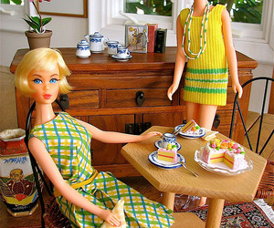 barbie, breakfast, and friends image