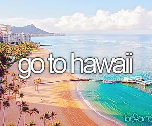 hawaii, beach, and summer image