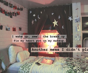 bedroom, mess, and stars image