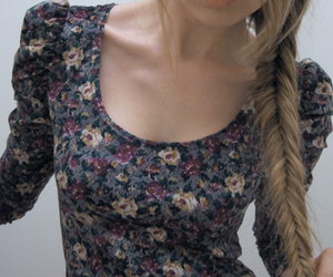tops, vintage, and floral top image