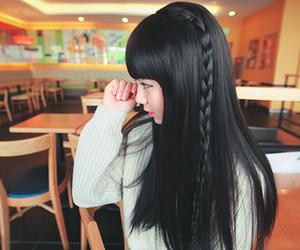 girl, hair, and asian image