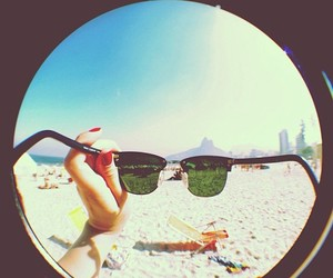 beach, glasses, and photography image