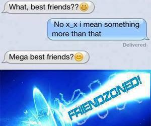 funny, friends, and friendzone image