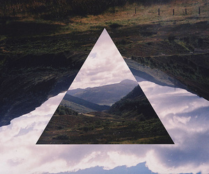 triangle, hipster, and mountains image
