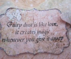 quote and fiary dust image