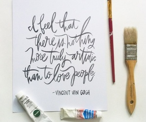 van gogh, art, and quotes image
