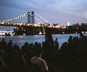light, night, and bridge image