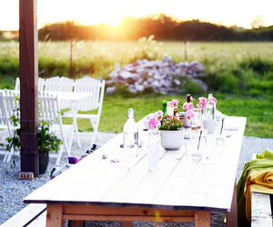 summer, beautiful, and table image