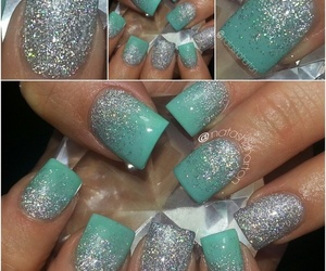 glitter, tiffany blue, and sparkles image