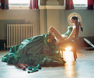 dress, tim walker, and model image