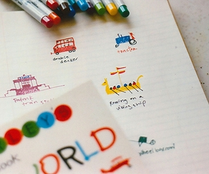 colorful, sharpies, and drawing image