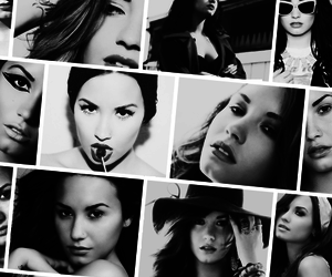 demi lovato, beautiful, and black and white image