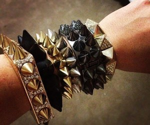 bracelet, spikes, and accessories image