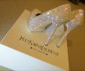 glitter, shoes, and Yves Saint Laurent image