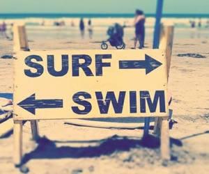 beach, surf, and swim image