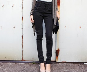 skinny, black, and jeans image