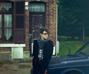 boy, car, and glasses image