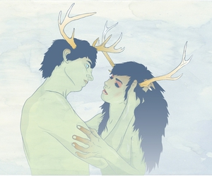 antlers, lovers, and boy image
