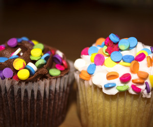 colour, cupecake, and food image