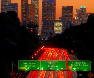 light, los angeles, and downtown image